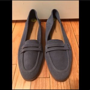 Lucky Brand Caylon Loafers Blue Leather Size 9 9M